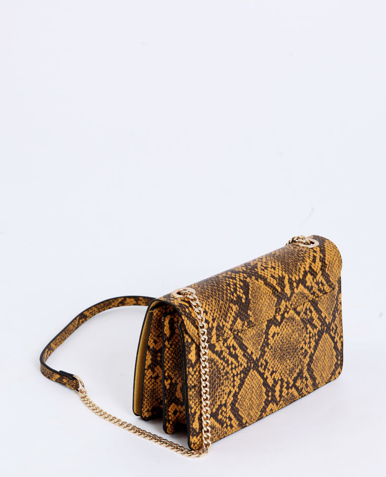 Petit sac python jaune