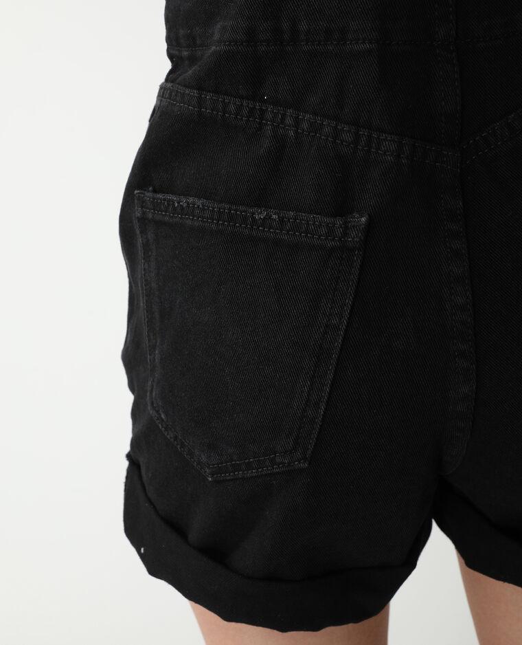 Salopette short noir - Pimkie