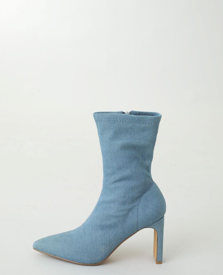 Bottines en jean bleu
