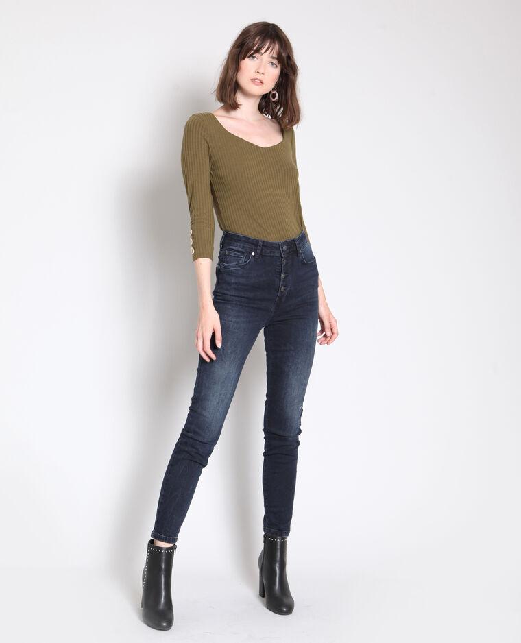 Jean skinny taille haute bleu foncé - Pimkie