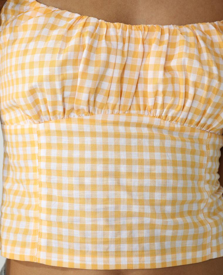 Top à carreaux orange - Pimkie
