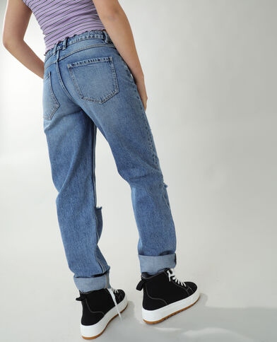 Jean straight high waist bleu denim - Pimkie