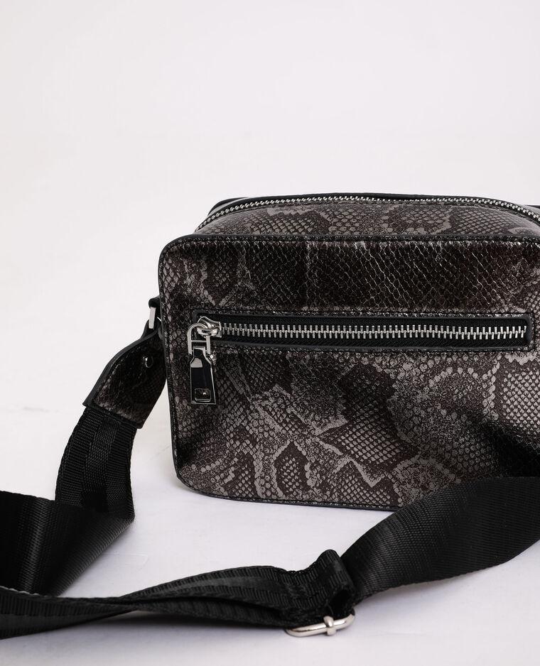 Petit sac imprimé serpent gris