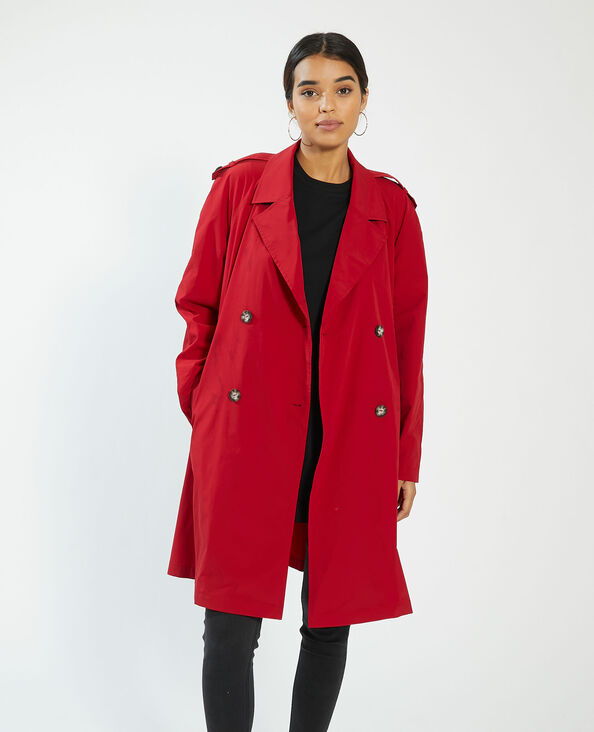 Trench long rouge - Pimkie
