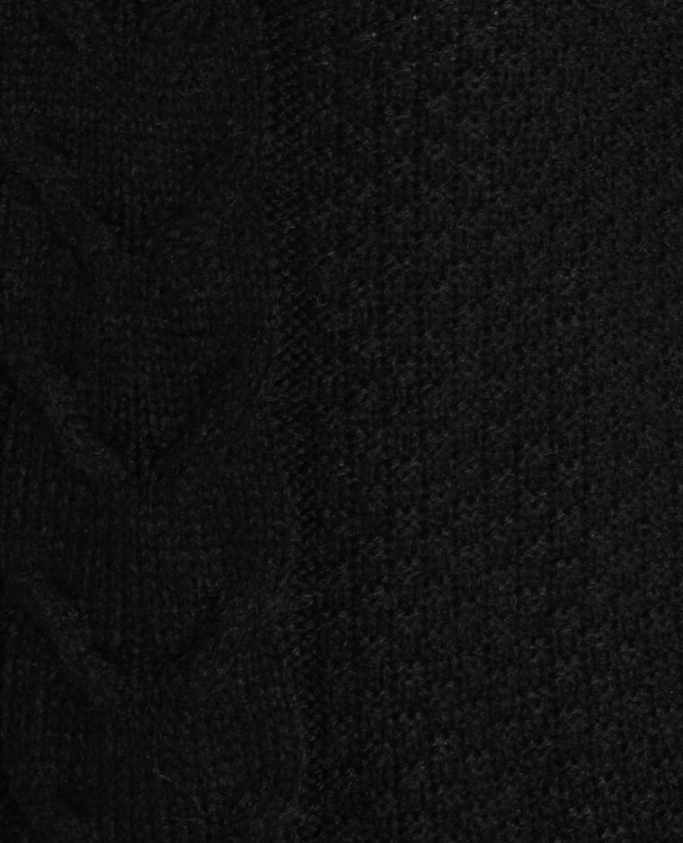 Pull torsadé noir