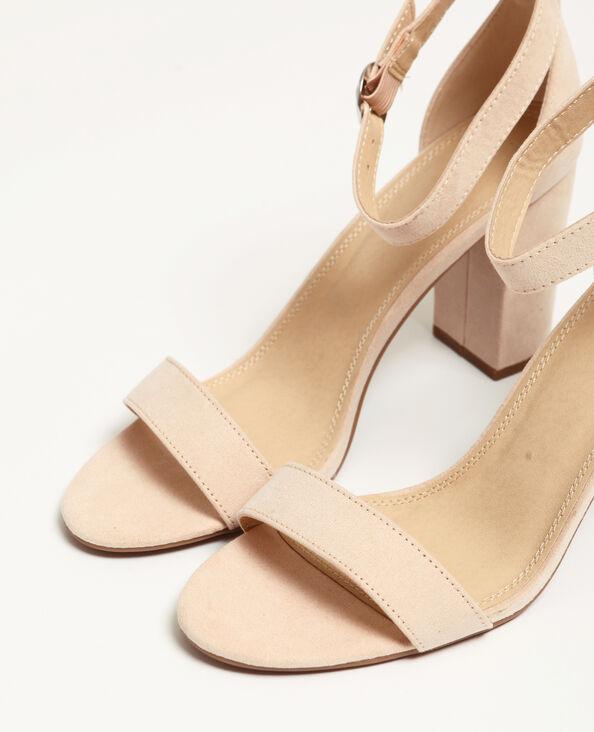 Sandales nude rose poudré