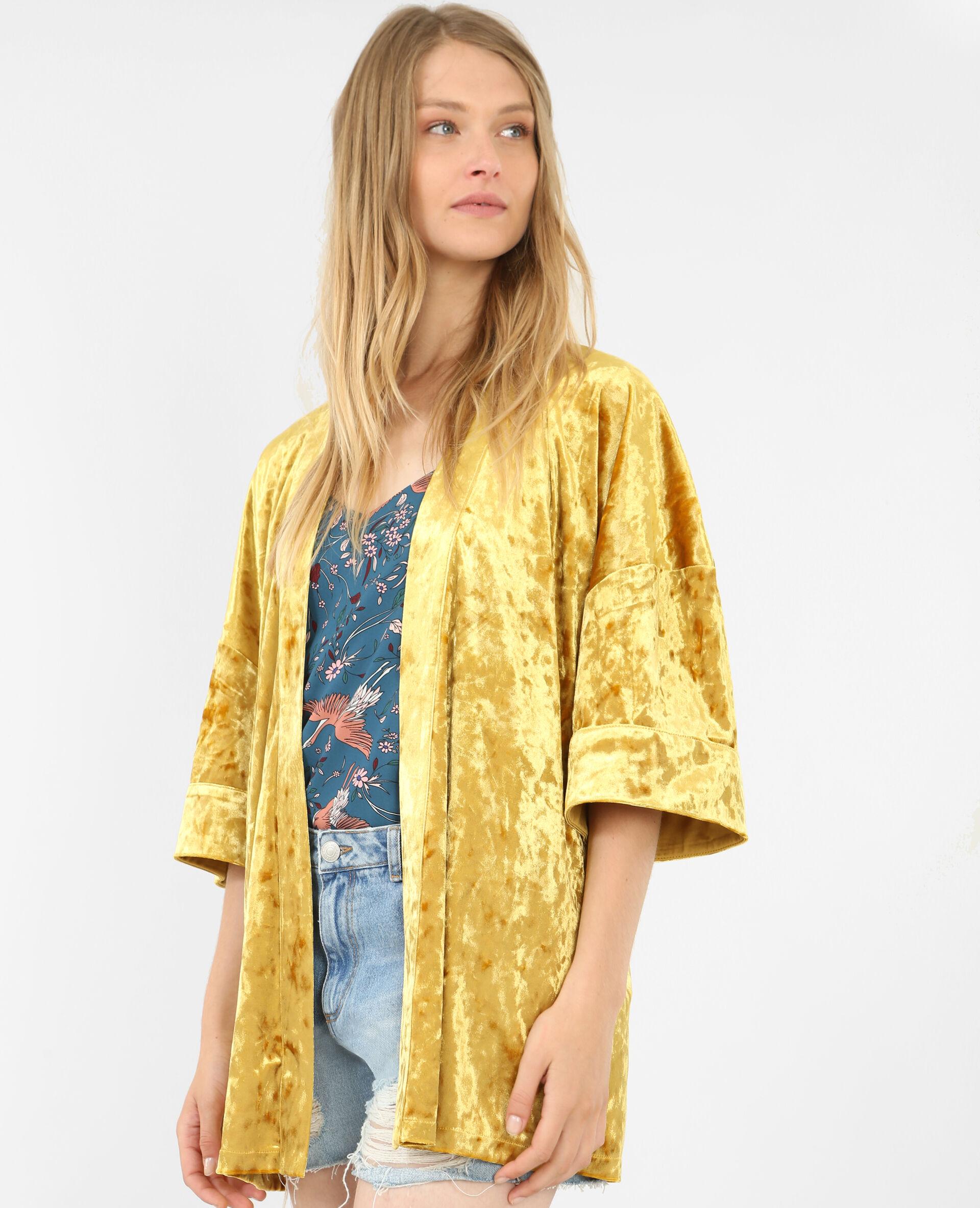 Veste kimono jaune