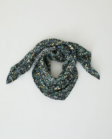 Foulard plissé noir