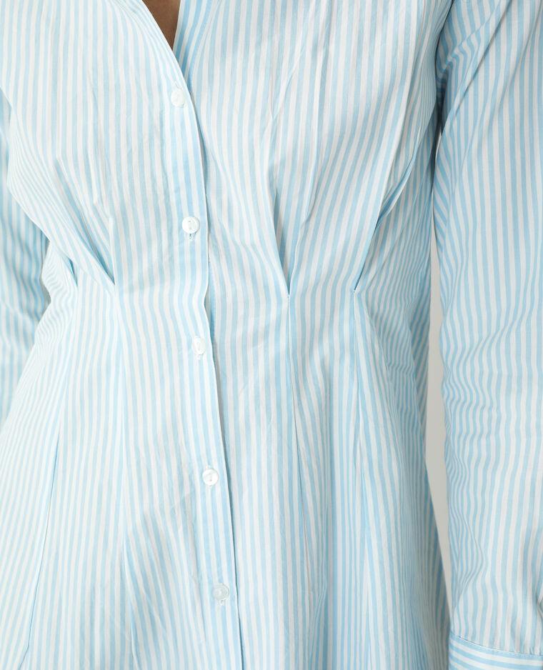 Chemise longue cintrée rayée bleu - Pimkie