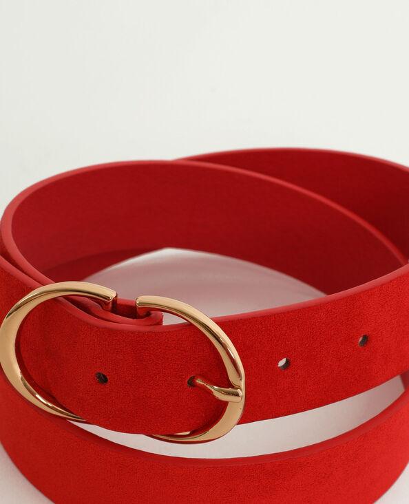 f4f0ef6b1911e Ceinture style suédine rouge