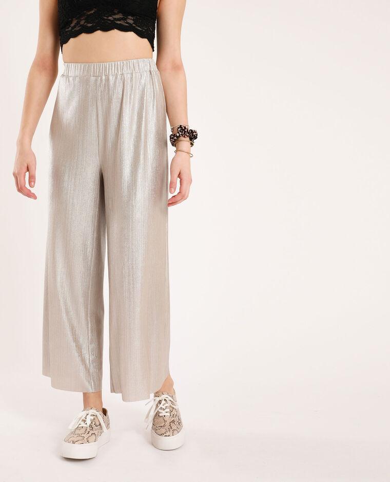 Pantalon à jambes larges Jaune