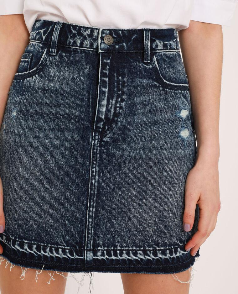 Jupe en jean bleu - Pimkie