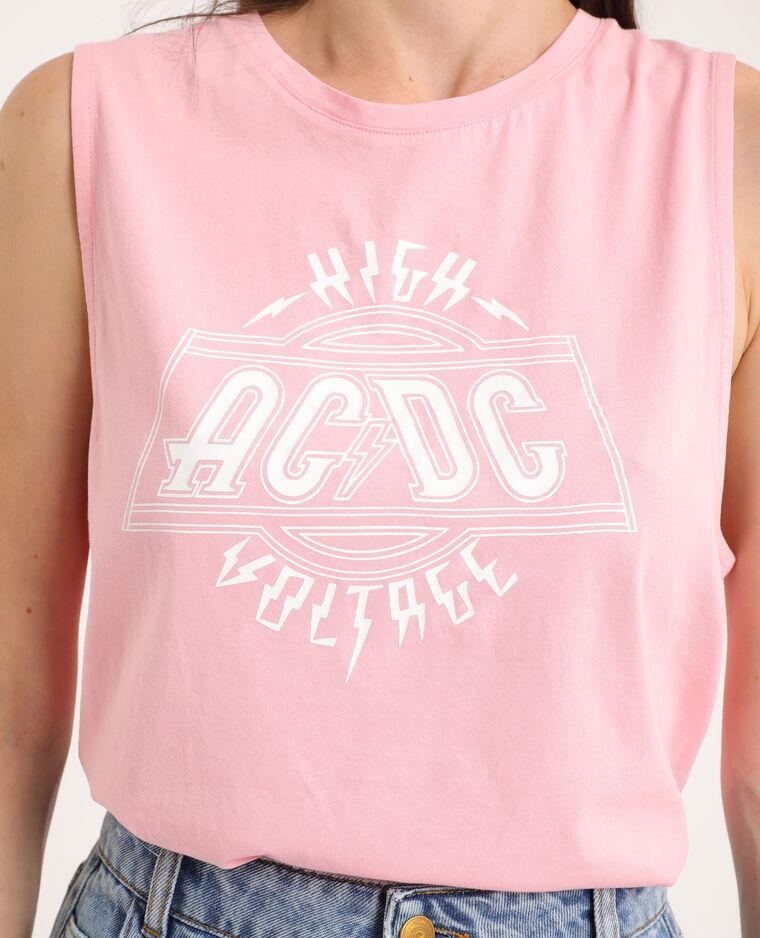 T-shirt AC/DC rose - Pimkie