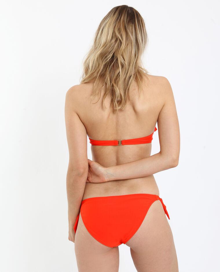 Haut de bikini à volants rouge