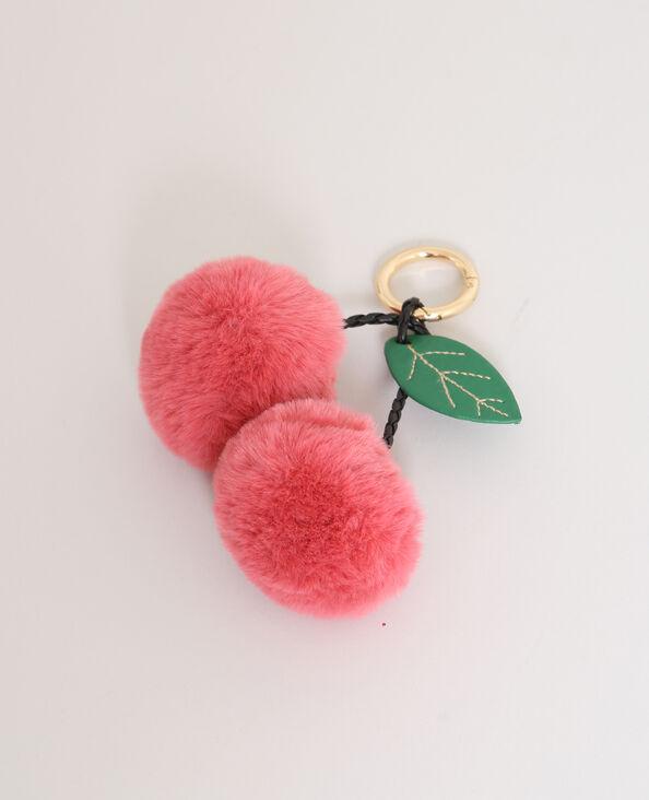 Porte-clés pompons corail