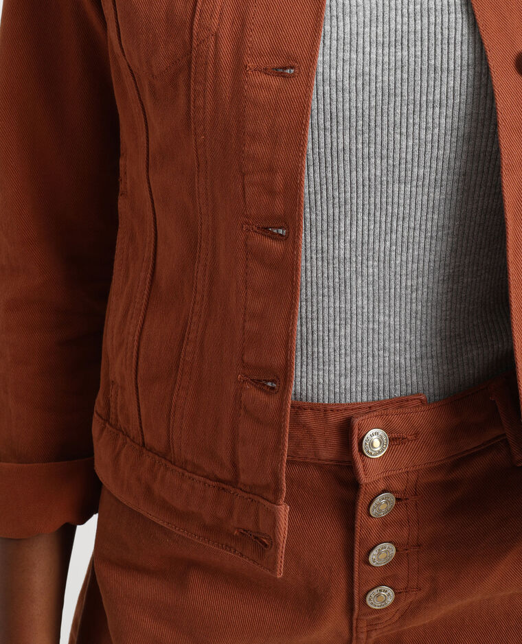 Veste en jean marron