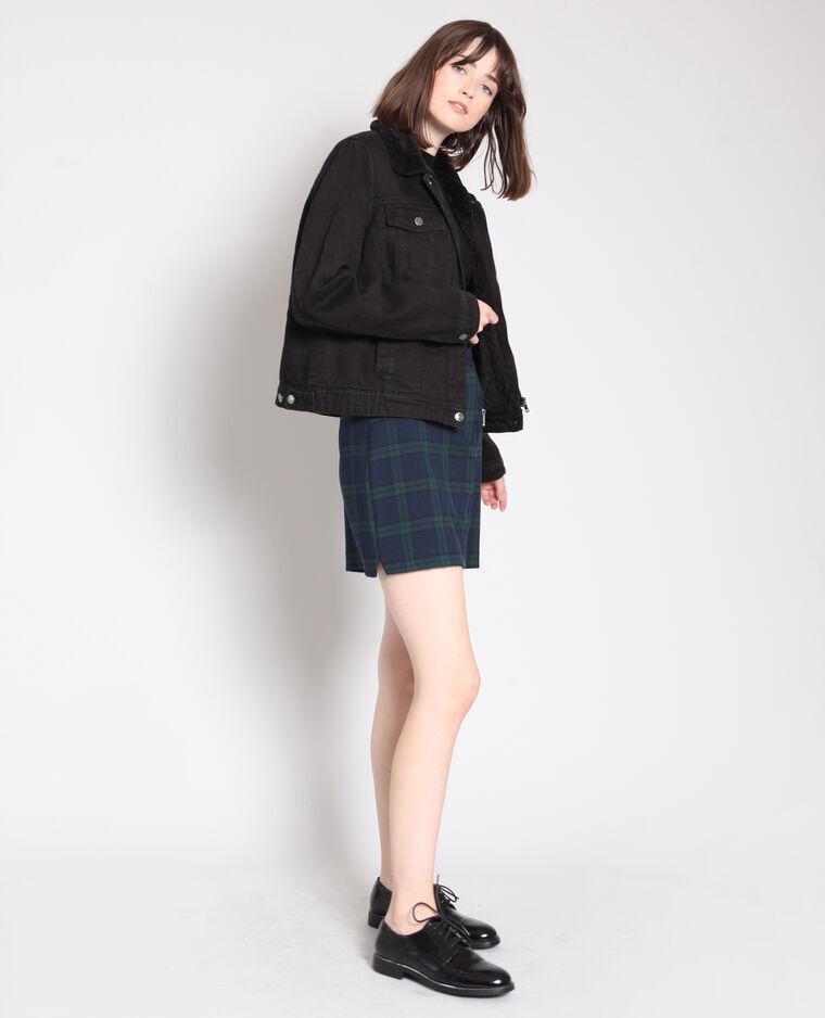 Veste à col imitation mouton noir