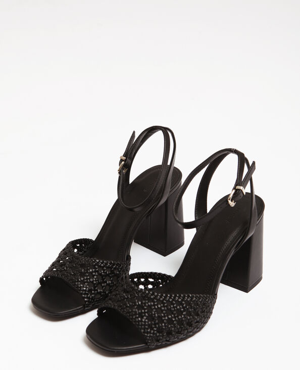 Sandales ajourées noir