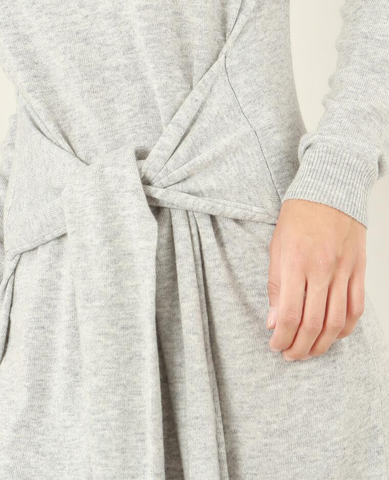 09a3420843 Robe pull ceinture gris chiné - 780760830A08 | Pimkie