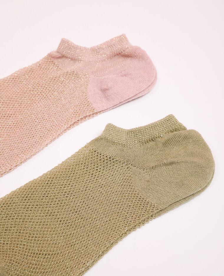 Lot de 2 paires de chaussettes vert - Pimkie