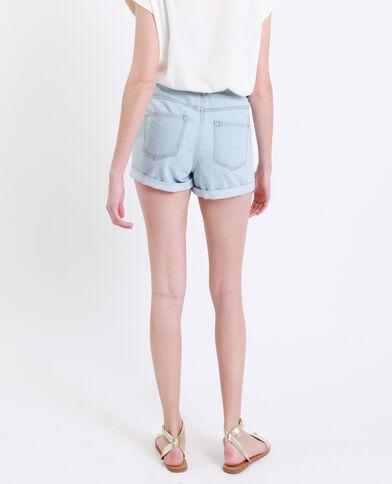 Short mom bleu clair