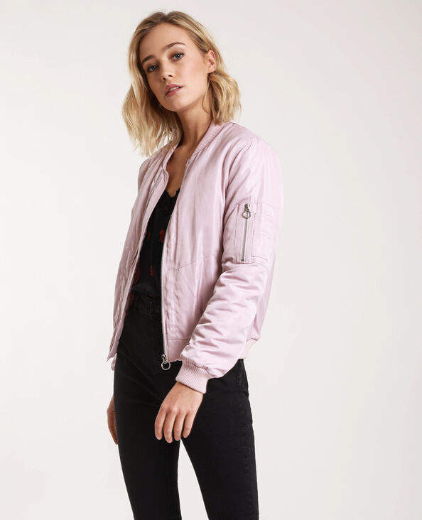 Bomber satiné rose