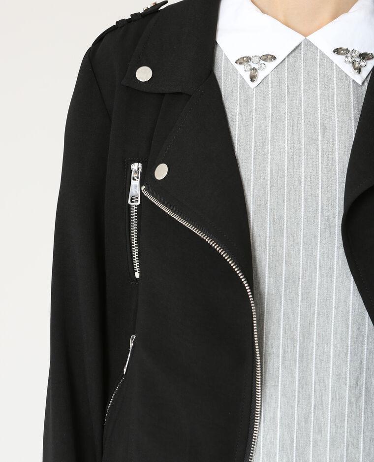 Veste style perfecto fluide noir