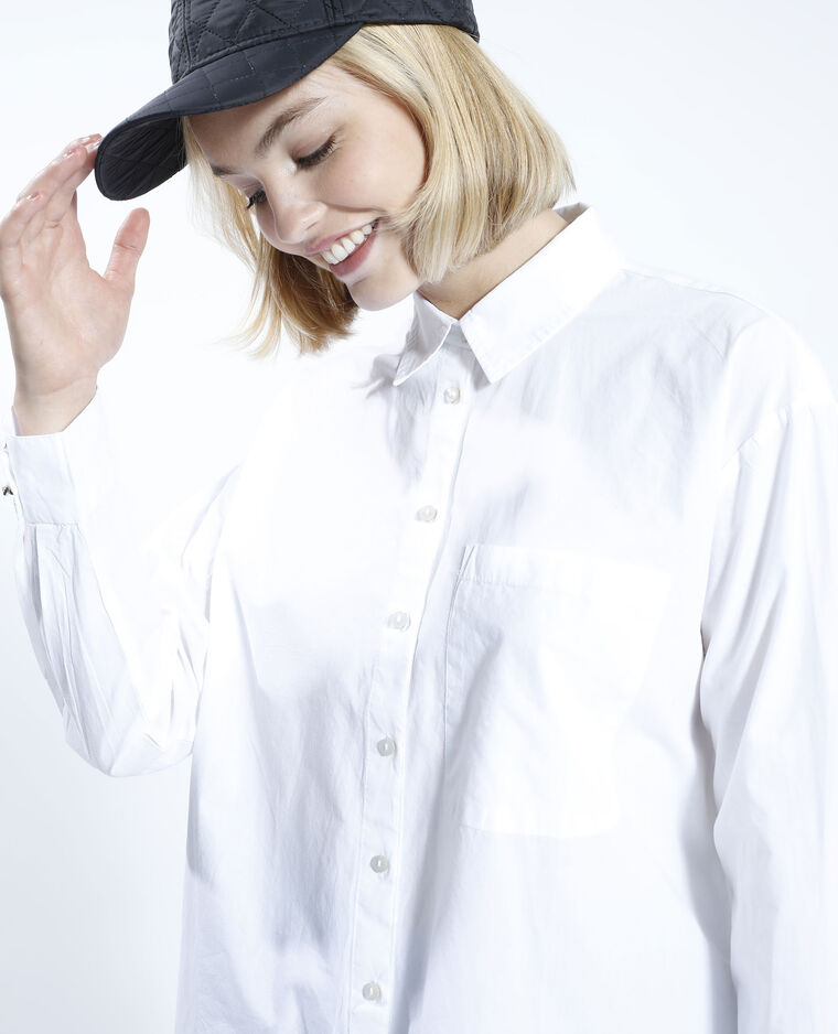 Chemise oversize blanche blanc - Pimkie