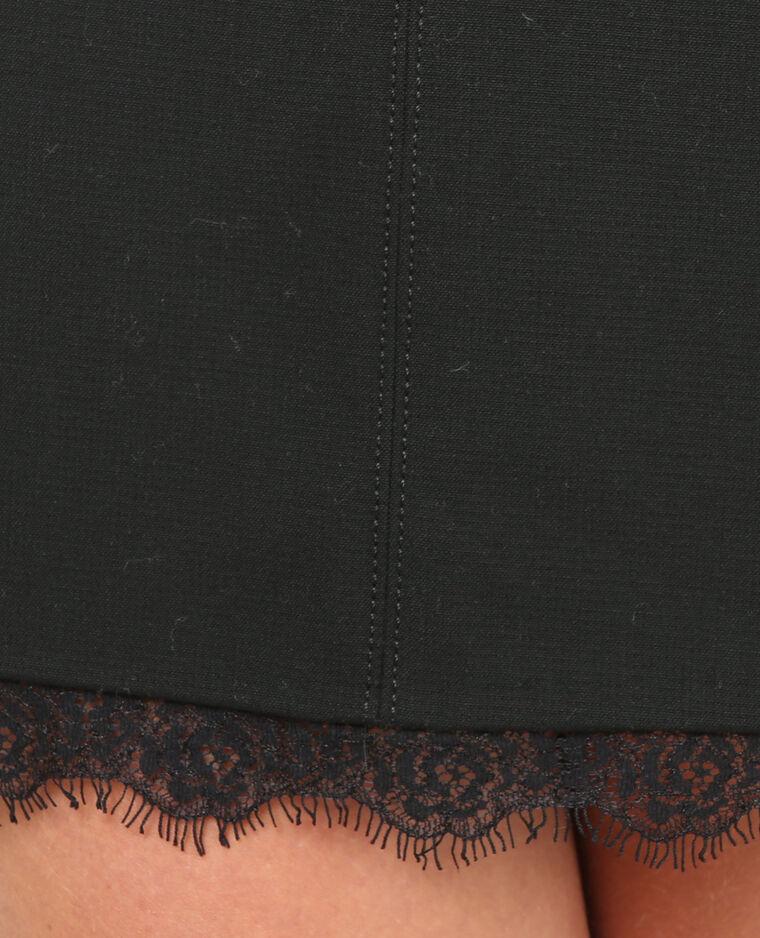 Mini jupe bas dentelle noir