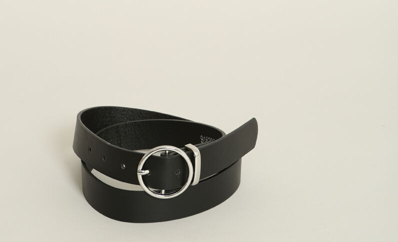 Ceinture en faux cuir noir