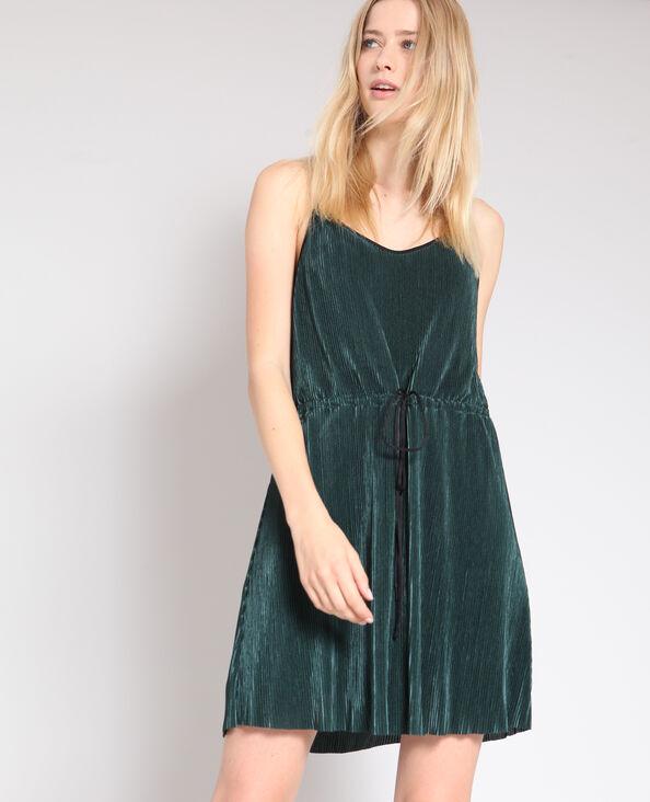 Robe plissée vert