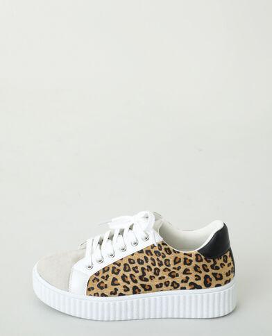 Baskets léopard beige taupe - Pimkie