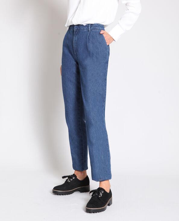 Jean taille haute bleu