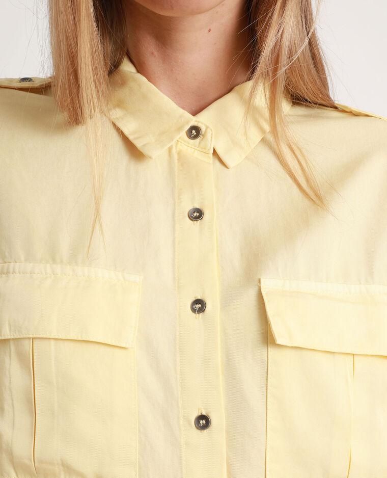 Chemise fluide jaune