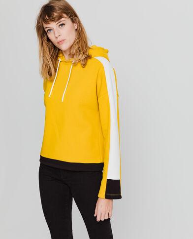 Sweat à capuche sporty jaune chaud