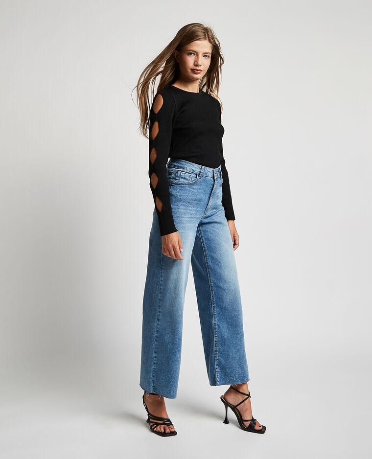 Jean wide leg high waist bleu denim - Pimkie