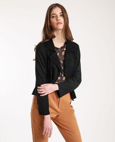 Veste suédine noir