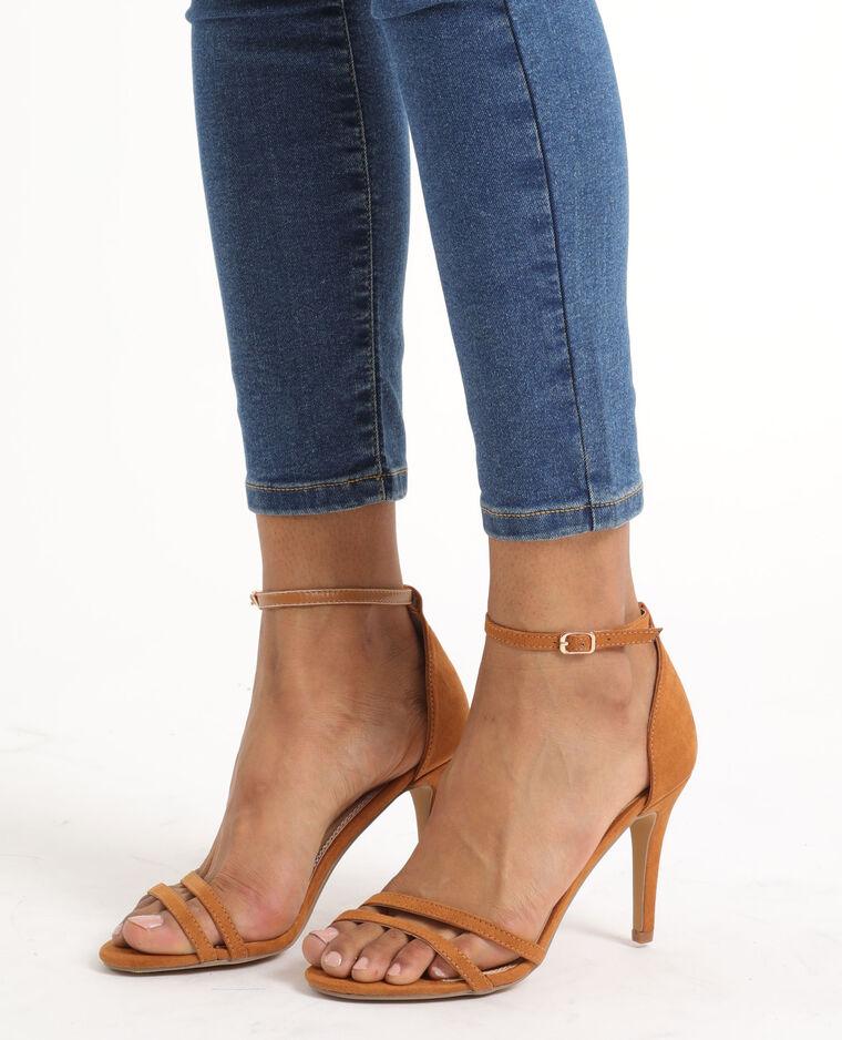 Sandales à talons aiguilles marron - Pimkie