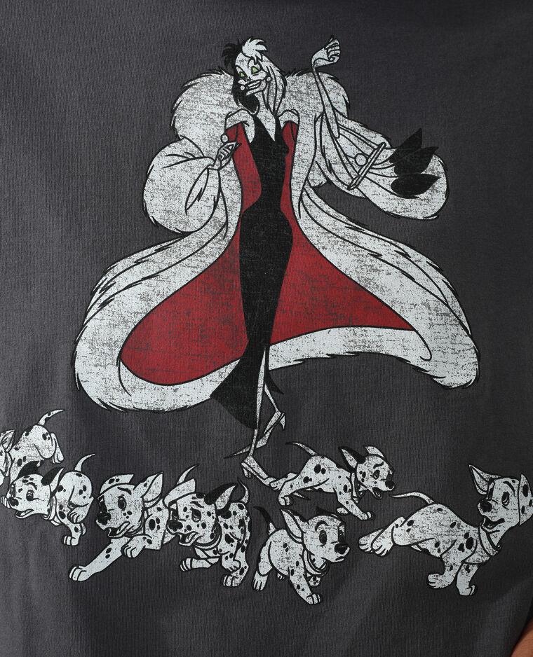 T-shirt cropped Cruella noir - Pimkie