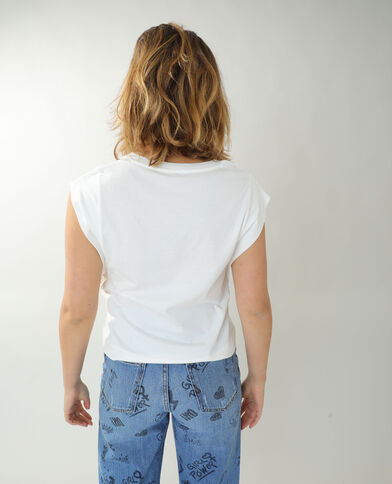 T-shirt ample blanc