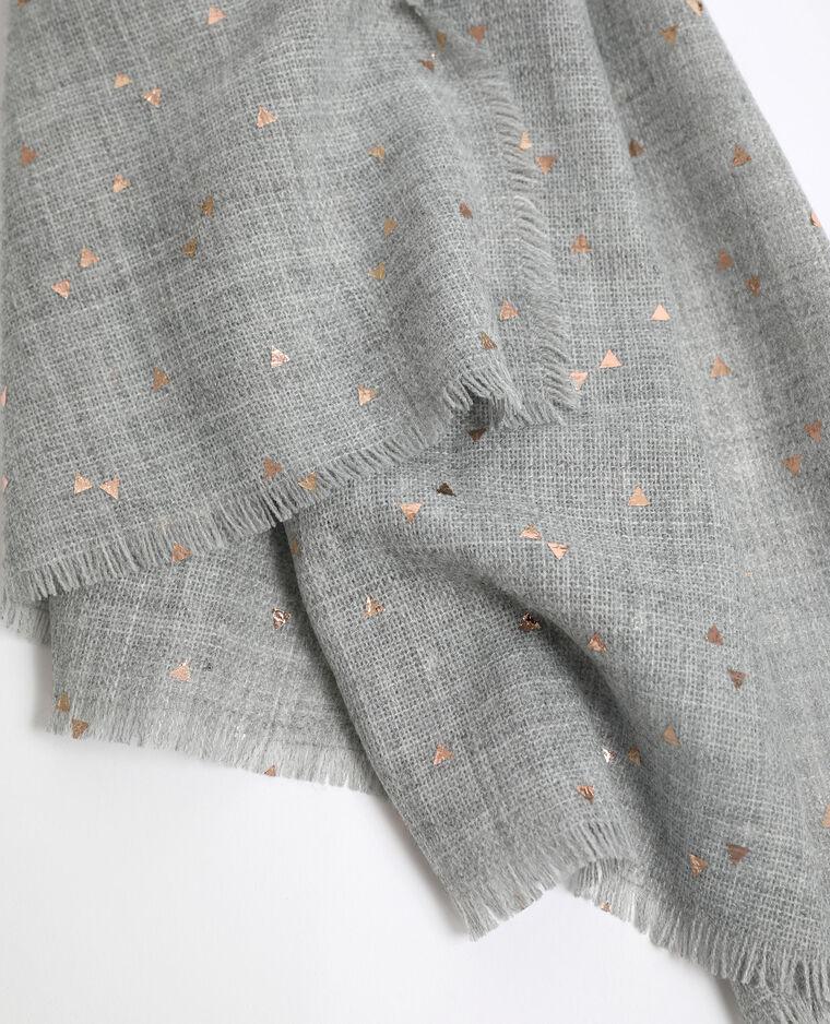 Echarpe légère gris chiné