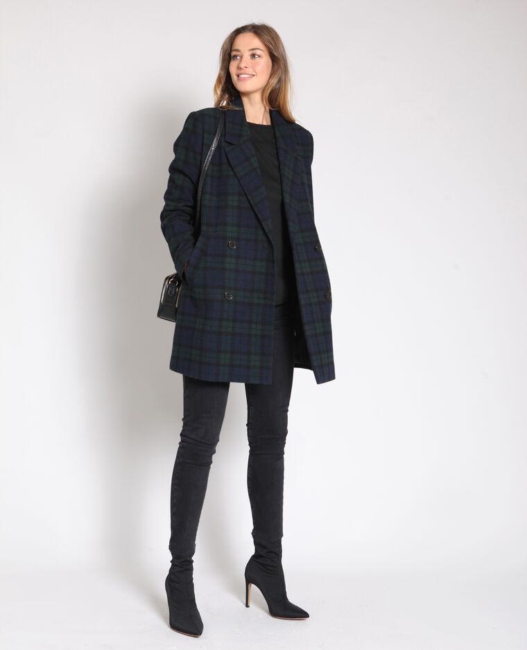 Manteau à carreaux bleu - Pimkie