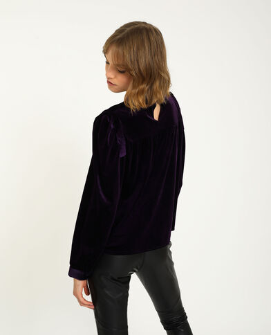 Top en velours ras violet - Pimkie