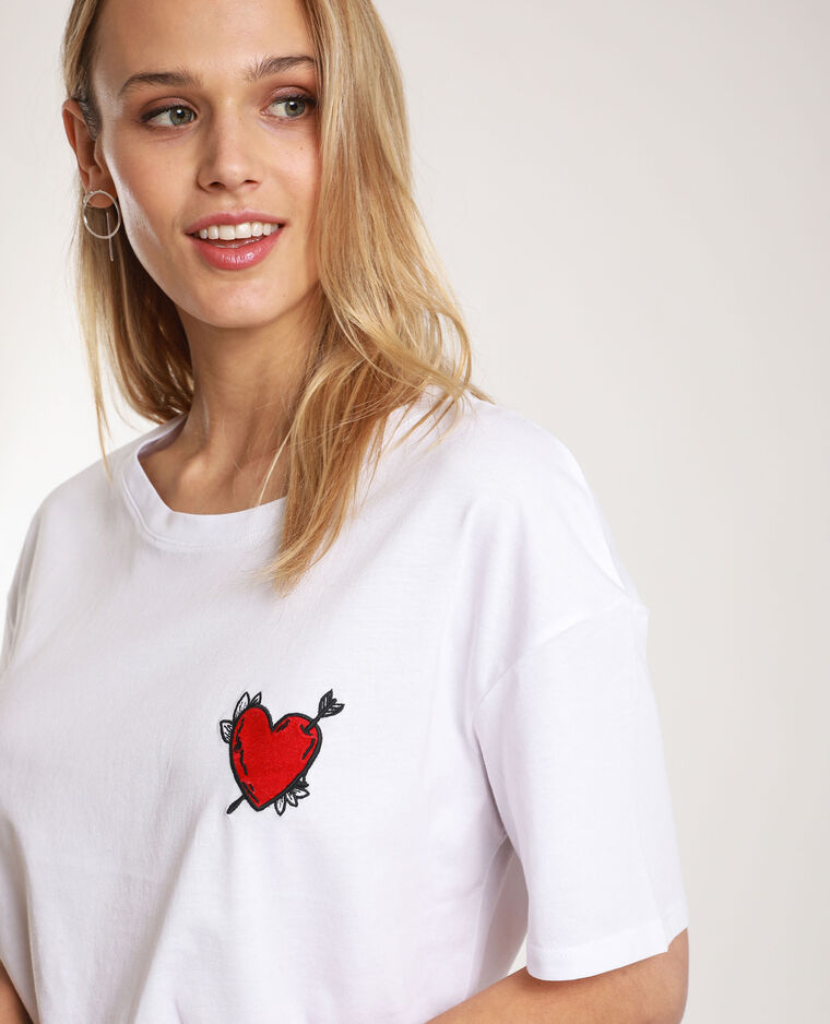 T-shirt à patch blanc