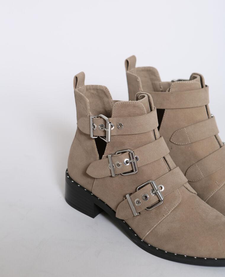 Boots à boucles marron