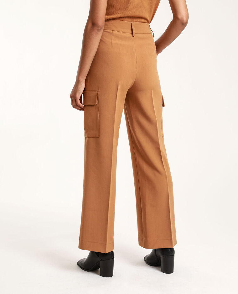 Pantalon cargo camel