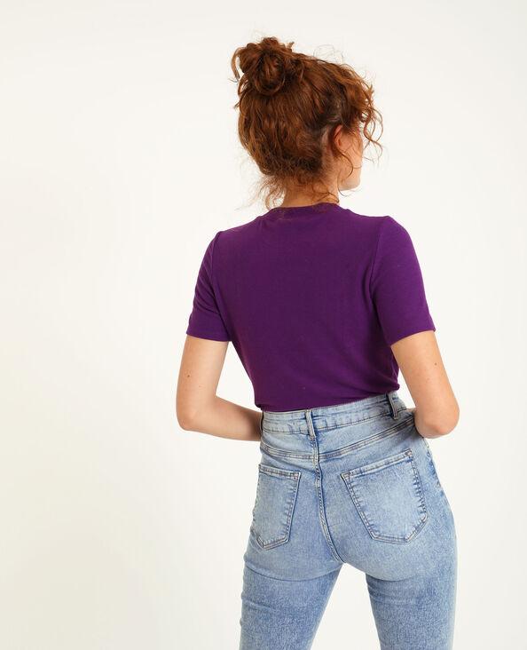 Top manches courtes violet