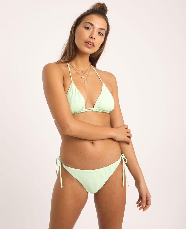 Haut de bikini triangle vert fluo