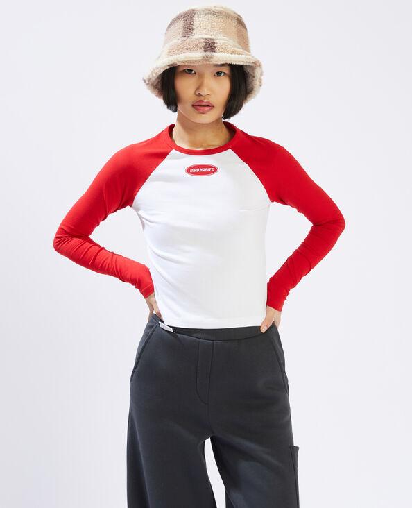 T-shirt manches longues rouge - Pimkie