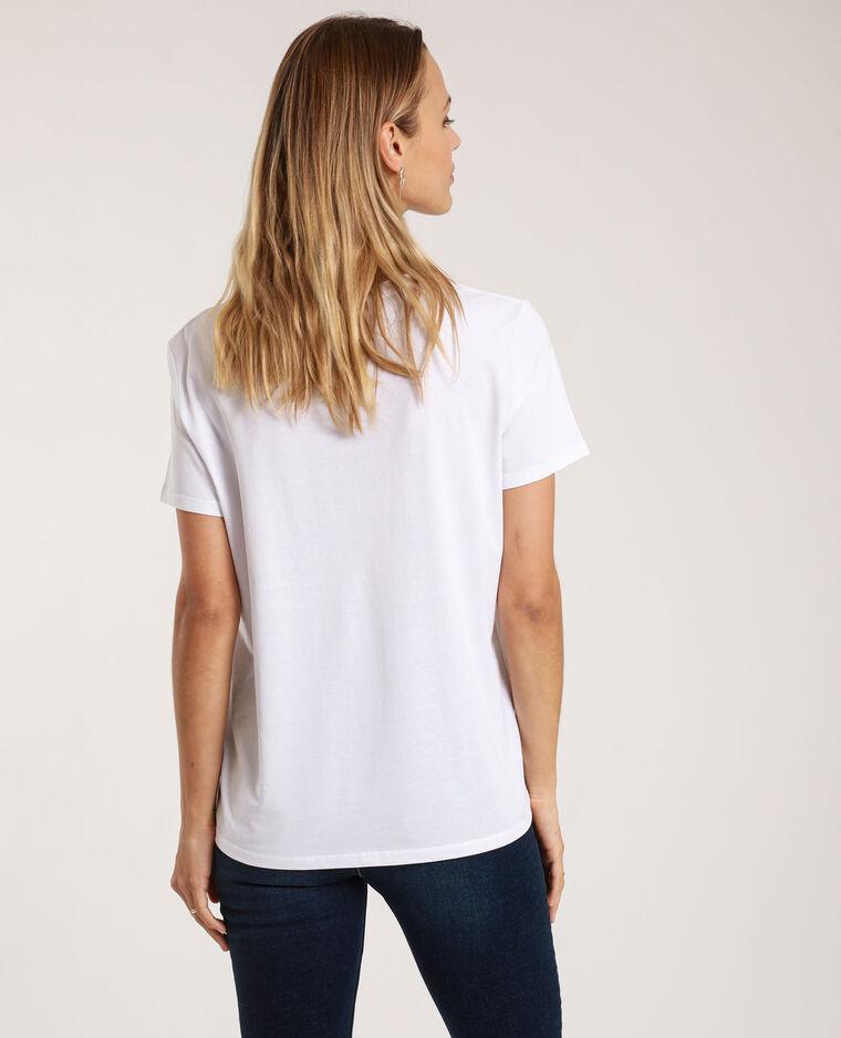 T-shirt à message écru - Pimkie